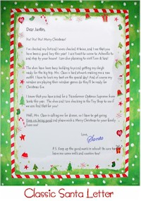 Personalized letter from santa claus spiritdancerdesigns Images